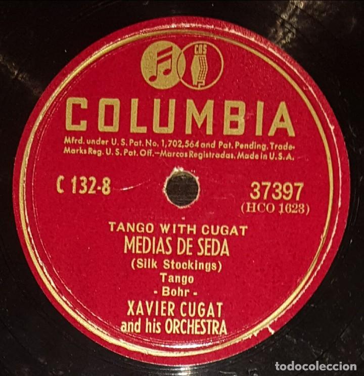 DISCOS 78 RPM - XAVIER CUGAT - ORCHESTRA - TANGO - MEDIAS DE SEDA - ADIÓS MUCHACHOS - PIZARRA (Música - Discos - Pizarra - Solistas Melódicos y Bailables)