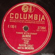 Discos de pizarra: DISCOS 78 RPM - XAVIER CUGAT - ORCHESTRA - TANGO - JALOUSIE - RAIN IN SPAIN - PIZARRA. Lote 138030874
