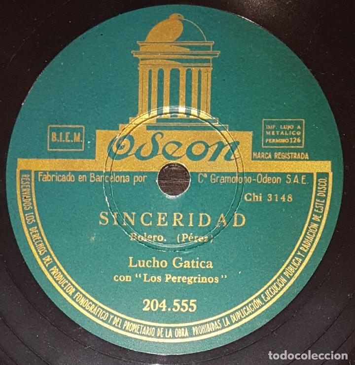 Discos de pizarra: DISCOS 78 RPM - LUCHO GATICA - LOS PEREGRINOS - BOLERO - SINCERIDAD - VAYA CON DIOS - PIZARRA - Foto 2 - 138037294