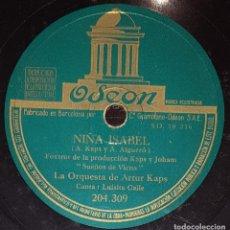 Discos de pizarra: DISCOS 78 RPM - LUISITA CALLE - ORQUESTA DE ARTUR KAPS - SUEÑOS DE VIENA - FOXTROT - PIZARRA. Lote 138050314