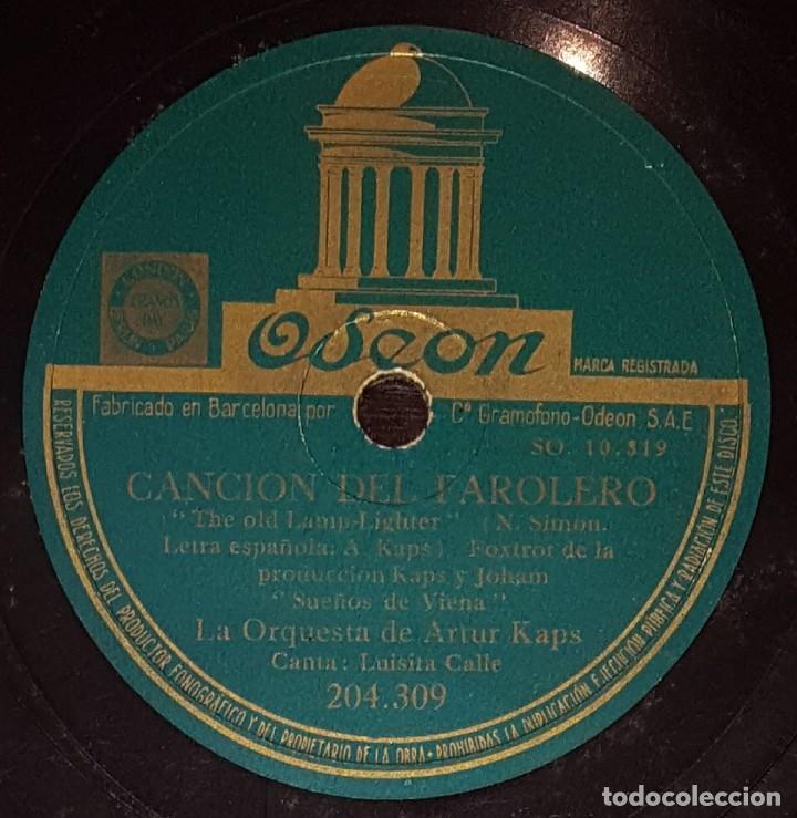 Discos de pizarra: DISCOS 78 RPM - LUISITA CALLE - ORQUESTA DE ARTUR KAPS - SUEÑOS DE VIENA - FOXTROT - PIZARRA - Foto 2 - 138050314