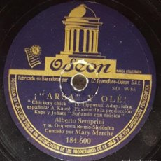 Discos de pizarra: DISCOS 78 RPM - ALBERTO SEMPRINI - PIANO - ORQUESTA - MARY MERCHE - SOÑANDO CON MÚSICA - PIZARRA. Lote 138579646