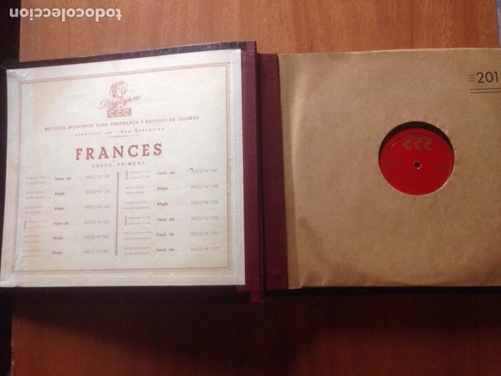Discos de pizarra: ALBUM DE PIZARRA EN FRANCES. POLIGLOPHONE CCC - Foto 2 - 139116177