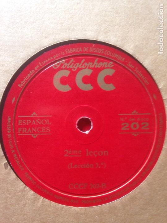 Discos de pizarra: ALBUM DE PIZARRA EN FRANCES. POLIGLOPHONE CCC - Foto 3 - 139116177
