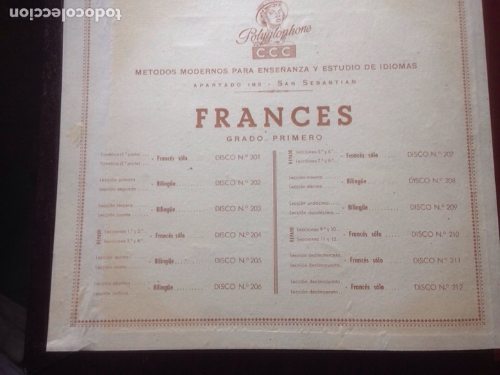 Discos de pizarra: ALBUM DE PIZARRA EN FRANCES. POLIGLOPHONE CCC - Foto 4 - 139116177