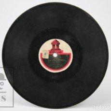 Discos de pizarra: DISCO PIEDRA / PIZARRA CANÇÓ CATALANA - LA FILADORA / EL SALTIRÓ DE LA CARDINA. EMILI VENDRELL. Lote 139193854