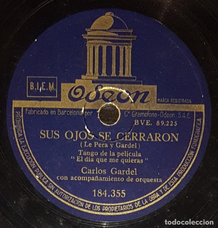 DISCOS 78 RPM - CARLOS GARDEL - TANGO - FILM - EL DÍA QUE ME QUIERAS - GUITARRA MIA - PIZARRA (Música - Discos - Pizarra - Flamenco, Canción española y Cuplé)