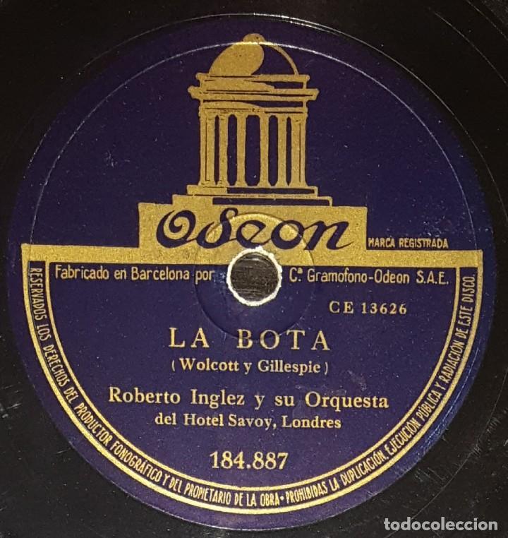 DISCOS 78 RPM - ROBERTO INGLEZ - ORQUESTA HOTEL SAVOY - LONDRES - BAIAO - PELADINHO - PIZARRA (Música - Discos - Pizarra - Solistas Melódicos y Bailables)