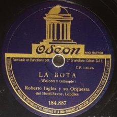 Discos de pizarra: DISCOS 78 RPM - ROBERTO INGLEZ - ORQUESTA HOTEL SAVOY - LONDRES - BAIAO - PELADINHO - PIZARRA. Lote 139266898