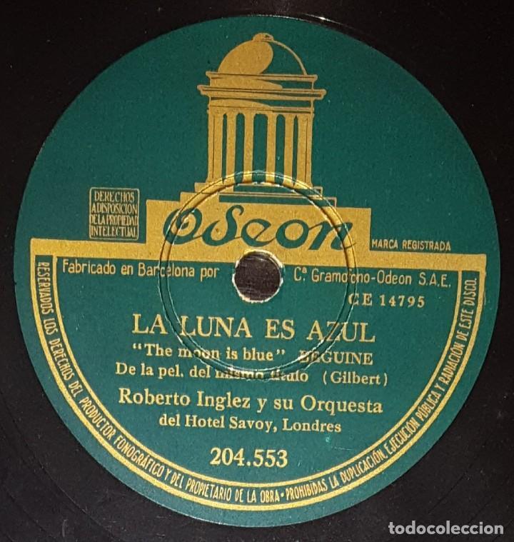 Discos de pizarra: DISCOS 78 RPM - ROBERTO INGLEZ - ORQUESTA HOTEL SAVOY - BOLERO - DULCIANA - PIZARRA - Foto 2 - 139271078