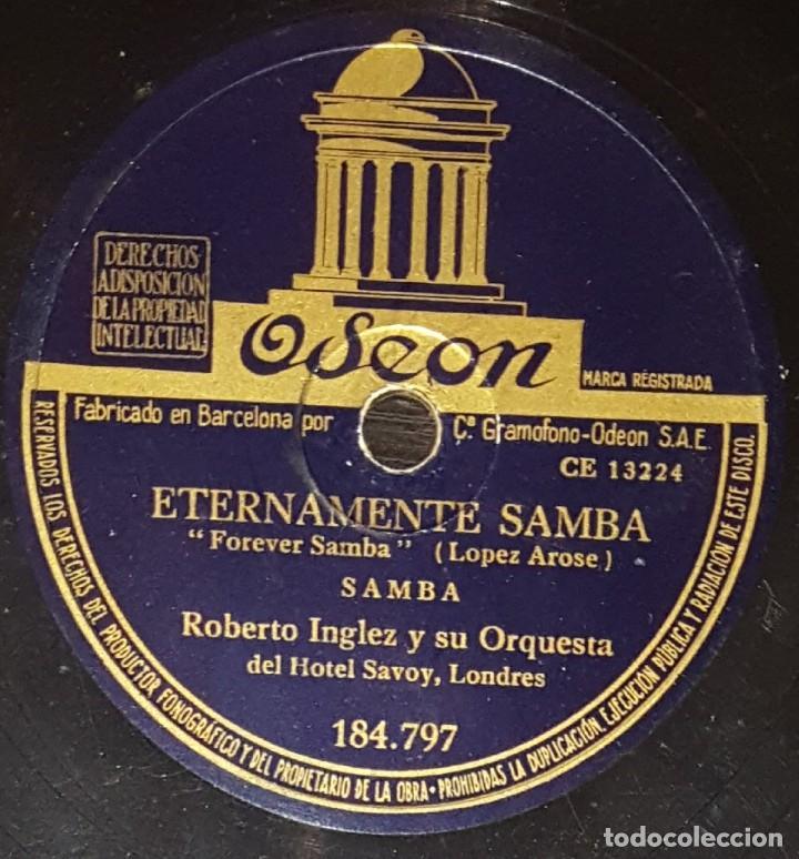 Discos de pizarra: DISCOS 78 RPM - ROBERTO INGLEZ - ORQUESTA HOTEL SAVOY - LONDRES - LA CANCIÓN DE DALILA - PIZARRA - Foto 2 - 139273022