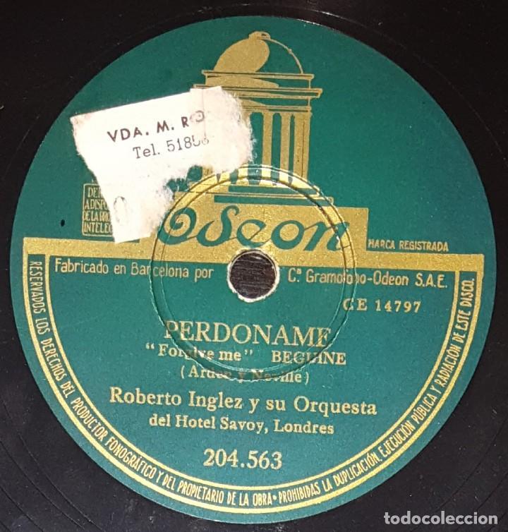 Discos de pizarra: DISCOS 78 RPM - ROBERTO INGLEZ - ORQUESTA HOTEL SAVOY - TANGO BOLERO - RECUÉRDAME - PIZARRA - Foto 2 - 139273882