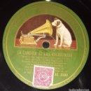 Discos de pizarra: DISCOS 78 RPM - DENNIS KING - CAROLYN THOMSON - ORQUESTA - FILM - EL REY VAGABUNDO - PIZARRA. Lote 139275250