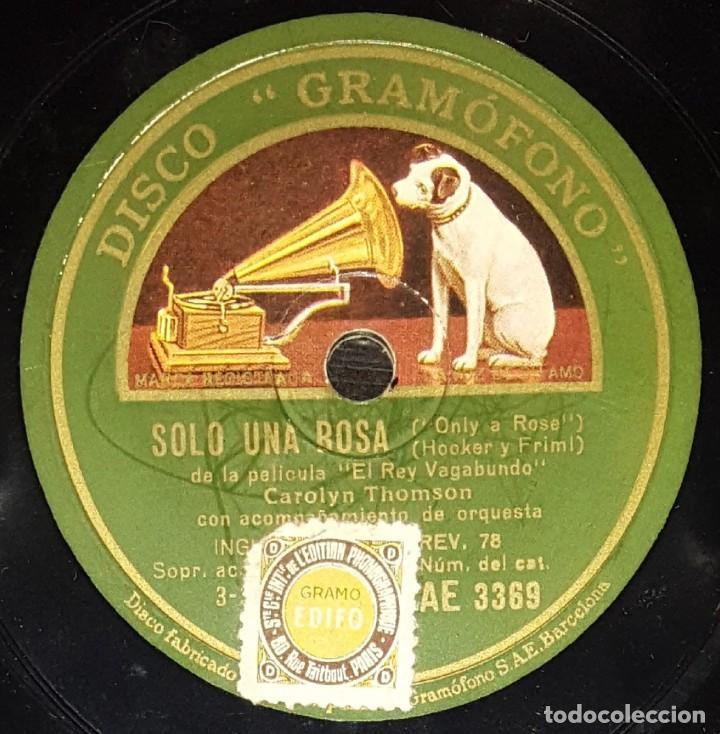 Discos de pizarra: DISCOS 78 RPM - DENNIS KING - CAROLYN THOMSON - ORQUESTA - FILM - EL REY VAGABUNDO - PIZARRA - Foto 2 - 139275250