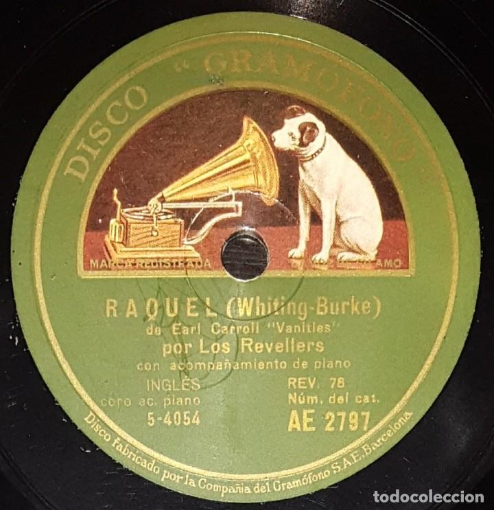 Discos de pizarra: DISCOS 78 RPM - LOS REVELLERS - CORO - PIANO - DISCO MUESTRA - WAS IT A DREAM? - RAQUEL - PIZARRA - Foto 2 - 139276878