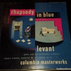 Discos de pizarra: DISCOS 78 RPM - OSCAR LEVANT - PIANO - ALBUM - 2 DISCOS - 12 PULGADAS - RHAPSODY IN BLUE - PIZARRA. Lote 139322186