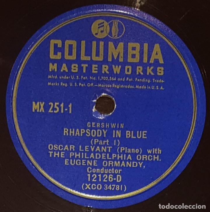 Discos de pizarra: DISCOS 78 RPM - OSCAR LEVANT - PIANO - ALBUM - 2 DISCOS - 12 PULGADAS - RHAPSODY IN BLUE - PIZARRA - Foto 3 - 139322186