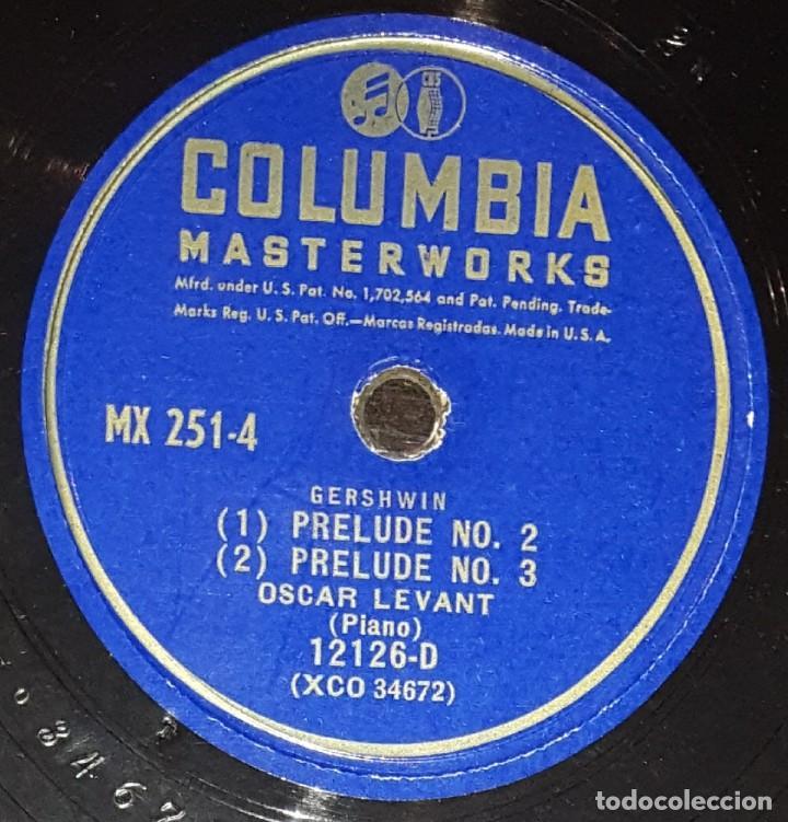 Discos de pizarra: DISCOS 78 RPM - OSCAR LEVANT - PIANO - ALBUM - 2 DISCOS - 12 PULGADAS - RHAPSODY IN BLUE - PIZARRA - Foto 4 - 139322186