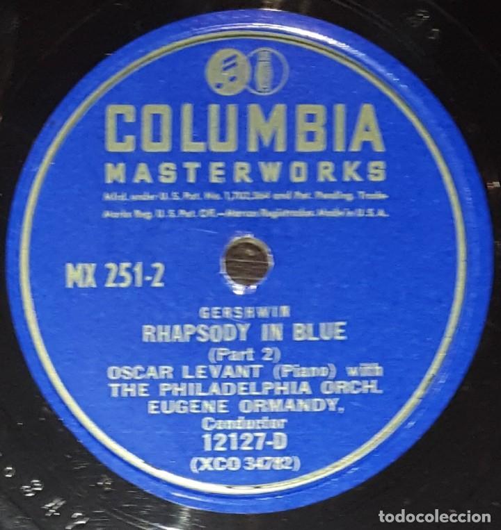 Discos de pizarra: DISCOS 78 RPM - OSCAR LEVANT - PIANO - ALBUM - 2 DISCOS - 12 PULGADAS - RHAPSODY IN BLUE - PIZARRA - Foto 5 - 139322186