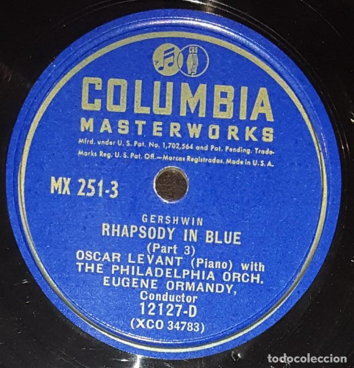 Discos de pizarra: DISCOS 78 RPM - OSCAR LEVANT - PIANO - ALBUM - 2 DISCOS - 12 PULGADAS - RHAPSODY IN BLUE - PIZARRA - Foto 6 - 139322186