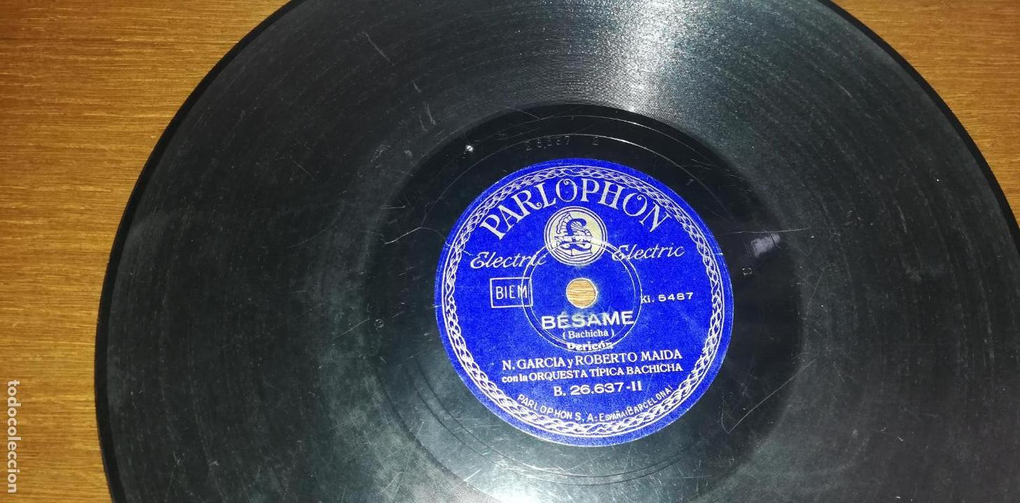 Discos de pizarra: Pizarra - N. Garcia Con La Orquesta Típica Bachicha / N. Garcia y Roberto Maida - Avellaneda/Bésame - Foto 3 - 139798174