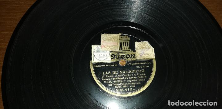 PIZARRA - CELIA GAMEZ CON PRIMAVERAS Y SEGUNDAS TIPLES DEL TEATRO PAVÓN - LAS DE VILLADIEGO (Música - Discos - Pizarra - Otros estilos)