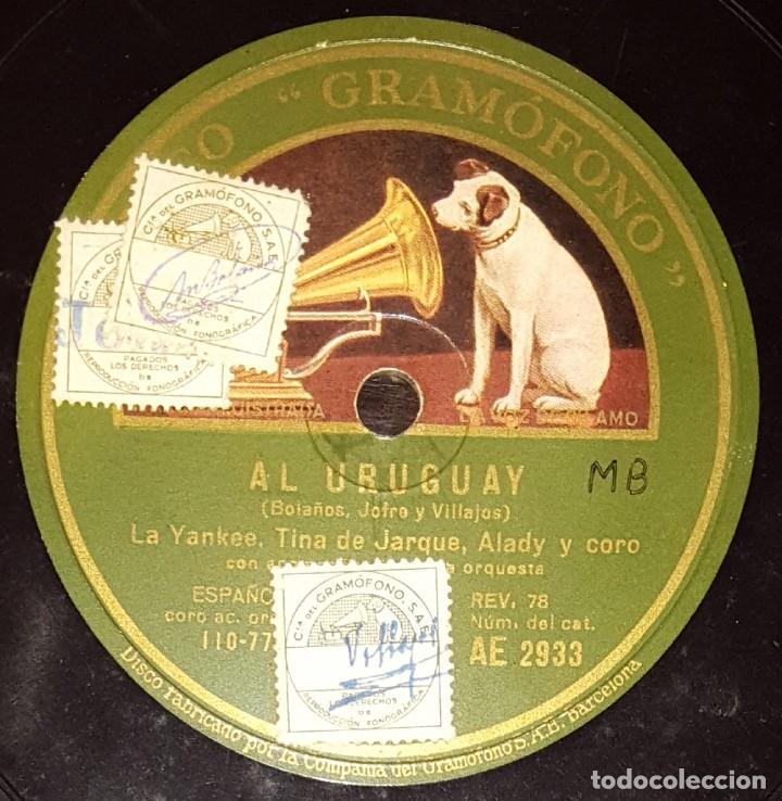 DISCOS 78 RPM - LA YANKEE - TINA DE JARQUE - ALADY - OFELIA CORTESINA - CORO - AL URUGUAY - PIZARRA (Música - Discos - Pizarra - Flamenco, Canción española y Cuplé)