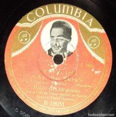 Discos de pizarra: DISCOS 78 RPM - JULIO OLLER - Mª DE LOS ÁNGELES SANTANA - ORQUESTA - TENTACIÓN - PIZARRA. Lote 139881838