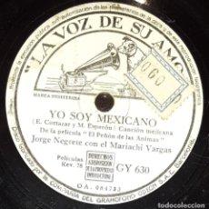 Discos de pizarra: DISCOS 78 RPM - JORGE NEGRETE - MARIACHI VARGAS - FILM - EL PEÑÓN DE LAS ÁNIMAS - MÉXICO - PIZARRA. Lote 139885778