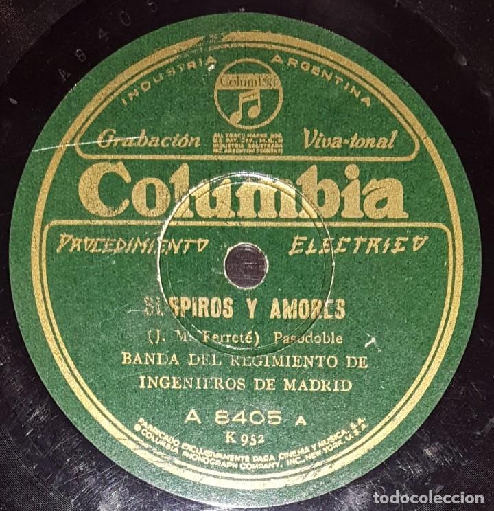 DISCOS 78 RPM - BANDA REGIMIENTO INGENIEROS DE MADRID - PASODOBLE - SCHOTIS - DE LAVAPIES - PIZARRA (Música - Discos - Pizarra - Clásica, Ópera, Zarzuela y Marchas)