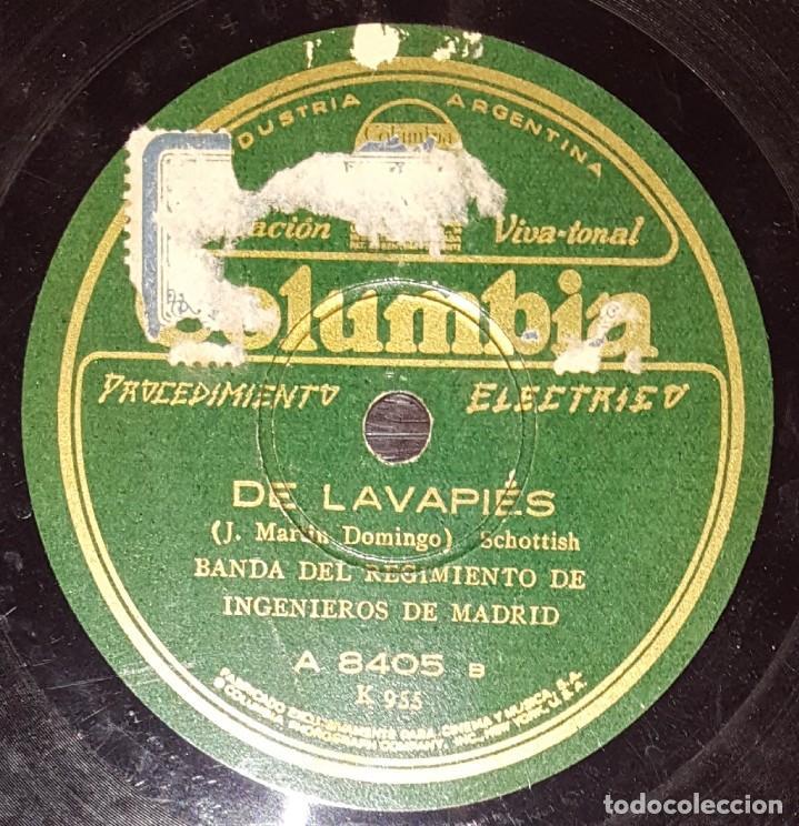 Discos de pizarra: DISCOS 78 RPM - BANDA REGIMIENTO INGENIEROS DE MADRID - PASODOBLE - SCHOTIS - DE LAVAPIES - PIZARRA - Foto 2 - 139996358