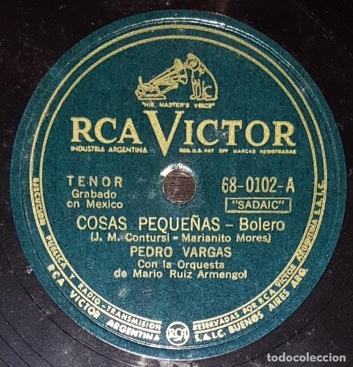 DISCOS 78 RPM - PEDRO VARGAS - ORQUESTA MARIO RUIZ ARMENGOL - BOLERO - MÉXICO - PIZARRA (Música - Discos - Pizarra - Solistas Melódicos y Bailables)
