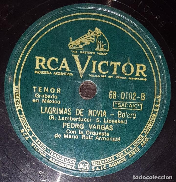 Discos de pizarra: DISCOS 78 RPM - PEDRO VARGAS - ORQUESTA MARIO RUIZ ARMENGOL - BOLERO - MÉXICO - PIZARRA - Foto 2 - 139997274