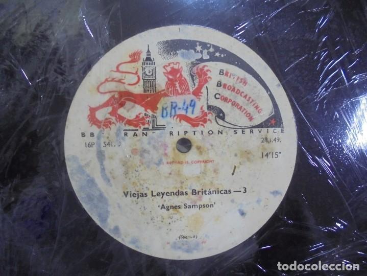 Discos de pizarra: DISCO. GRAN TAMAÑO. BRITISH BROADCASTING CORPORATION. VIEJAS LEYENDAS BRITANICAS 3 Y 4. VER - Foto 3 - 140072738