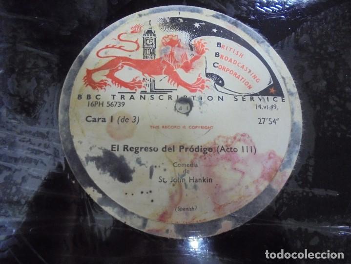 Discos de pizarra: DISCO. GRAN TAMAÑO. BRITISH BROADCASTING CORPORATION. EL REGRESO DEL PRODIGO ACTO III Y IV. VER - Foto 2 - 140072834