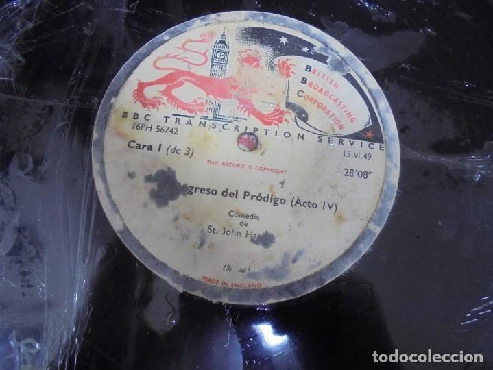 Discos de pizarra: DISCO. GRAN TAMAÑO. BRITISH BROADCASTING CORPORATION. EL REGRESO DEL PRODIGO ACTO III Y IV. VER - Foto 3 - 140072834