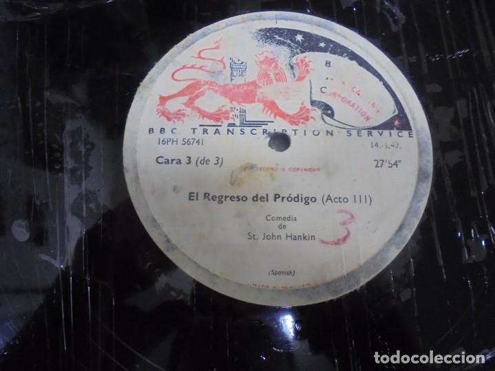 Discos de pizarra: DISCO. GRAN TAMAÑO. BRITISH BROADCASTING CORPORATION. EL REGRESO DEL PRODIGO ACTO III Y IV. VER - Foto 2 - 140073054