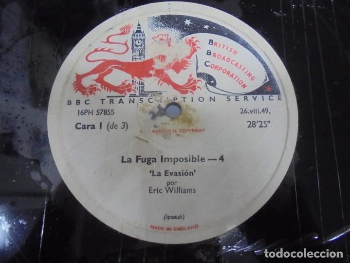 Discos de pizarra: DISCO. GRAN TAMAÑO. BRITISH BROADCASTING CORPORATION. LA FUGA IMPOSIBLE 3 Y 4. VER - Foto 2 - 140073130
