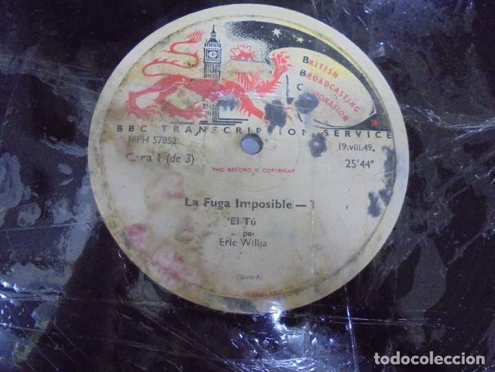 Discos de pizarra: DISCO. GRAN TAMAÑO. BRITISH BROADCASTING CORPORATION. LA FUGA IMPOSIBLE 3 Y 4. VER - Foto 3 - 140073130