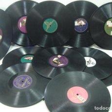 Discos de pizarra: LOTE COLECCION 8X DISCO PIZARRA-ODEON COLUMBIA -78 RPM. 25 CMS -PARA GRAMOFONO DISCOS DOBLE CARA 2. Lote 140222426