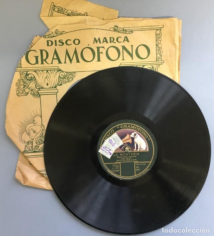 DISCO DE PIZARRA GRAMOFONO, LA MONTERIA, RAMOS MARTIN Y GUERRERO CUARTETO, 2 CARAS (Música - Discos - Pizarra - Otros estilos)