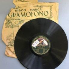 Discos de pizarra: DISCO DE PIZARRA GRAMOFONO, LA MONTERIA, RAMOS MARTIN Y GUERRERO CUARTETO, 2 CARAS. Lote 140284198