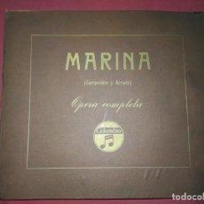 Discos de pizarra: MARINA,, OPERA COMPLETA, CAMPODON Y ARRIETA,. Lote 140616242