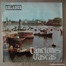 Discos de pizarra: CANCIONES VASCAS - KUKU +3 OCHOTR IRRINTZI JOSE Mª ARZUAGA. Lote 140732558