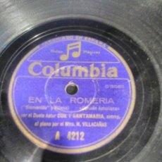 Discos de pizarra: DISCO DE PIZARRA, CANCION ASTURIANA. Lote 140781957