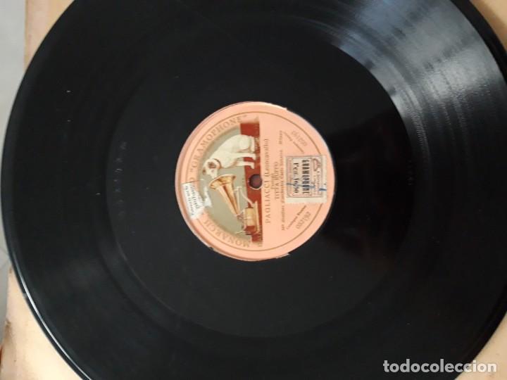 DISCO PIZARRA GRAMÓFONO PAGLIACCI (LEONCAVALLO) (Música - Discos - Pizarra - Otros estilos)