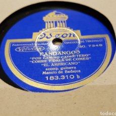 Discos de pizarra: DISCOS 78 RPM FLAMENCO EL AMERICANO. Lote 142329541