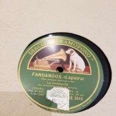 Discos de pizarra: DISCOS 78 RPM LA ANDALUCITA. Lote 142330270