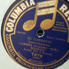Discos de pizarra: DISCOS 78 RPM FLAMENCO NIÑA ROMERO. Lote 142369925