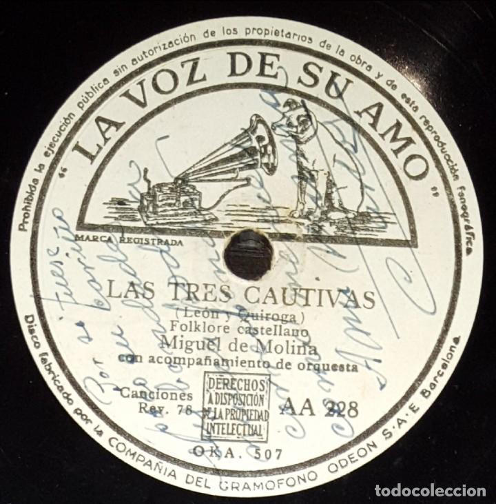 DISCOS 78 RPM - MIGUEL DEL MOLINA - ORQUESTA - FOLKLORE CASTELLANO - ZAMBRA - MALDITA SEAS - PIZARRA (Música - Discos - Pizarra - Flamenco, Canción española y Cuplé)